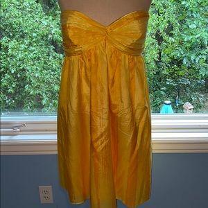 GIANNI BINI yellow sweetheart cocktail dress